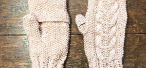 山久編み物教室「ハマナカ アメリーの指出せるミトン」