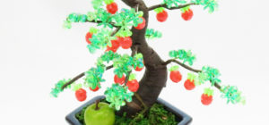 山久オリジナルキット ビーズ盆栽「姫りんご」の作り方